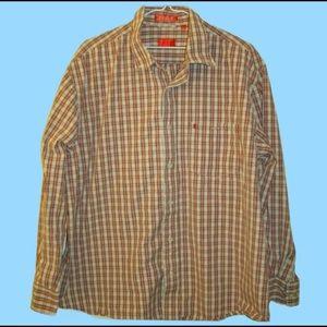 Men's Izod Plaid Button Up Long Sleeve Shirt